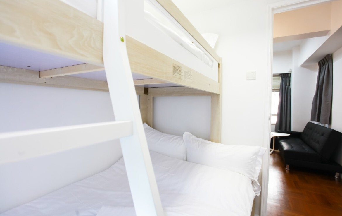 Bunk bed in Tin Hau 2 bedrooms Apartment