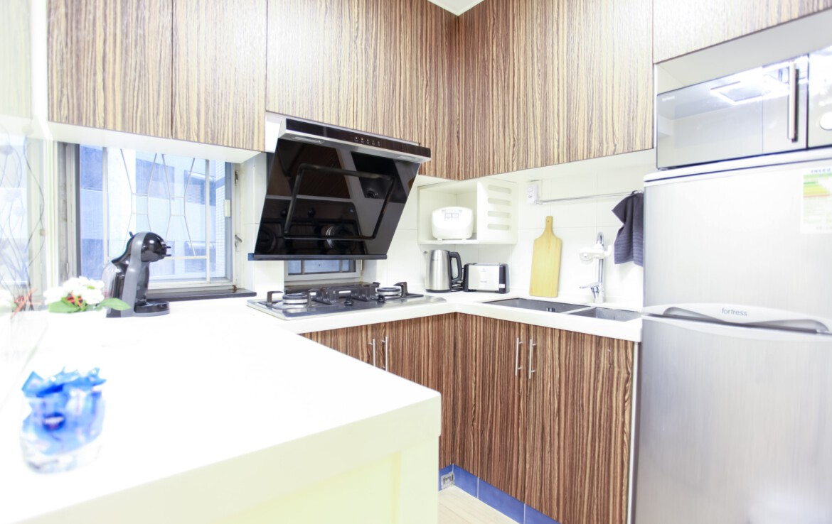 Modern semi open kitchen in 2 bedrooms apartment Fortress Hill